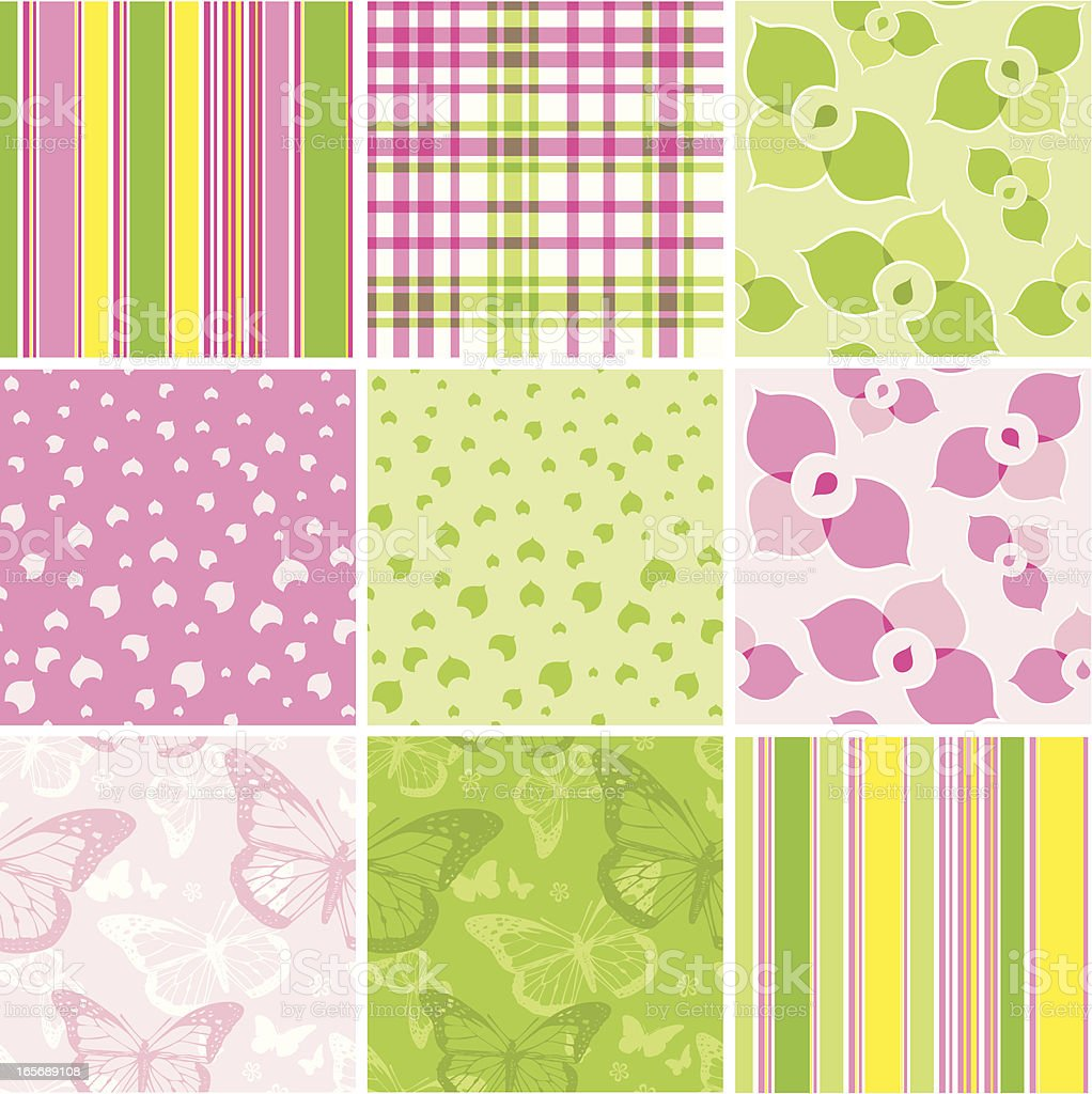 Spring Seamless Background Collection royalty-free stock vector art