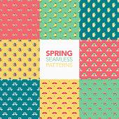 Spring Seamless Pattern Set