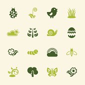 Spring Season Icons - Color Series Vector EPS10 File.