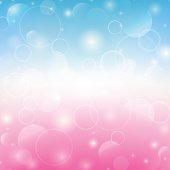 Spring shiny background. Pink and blue colors. Vector illustration