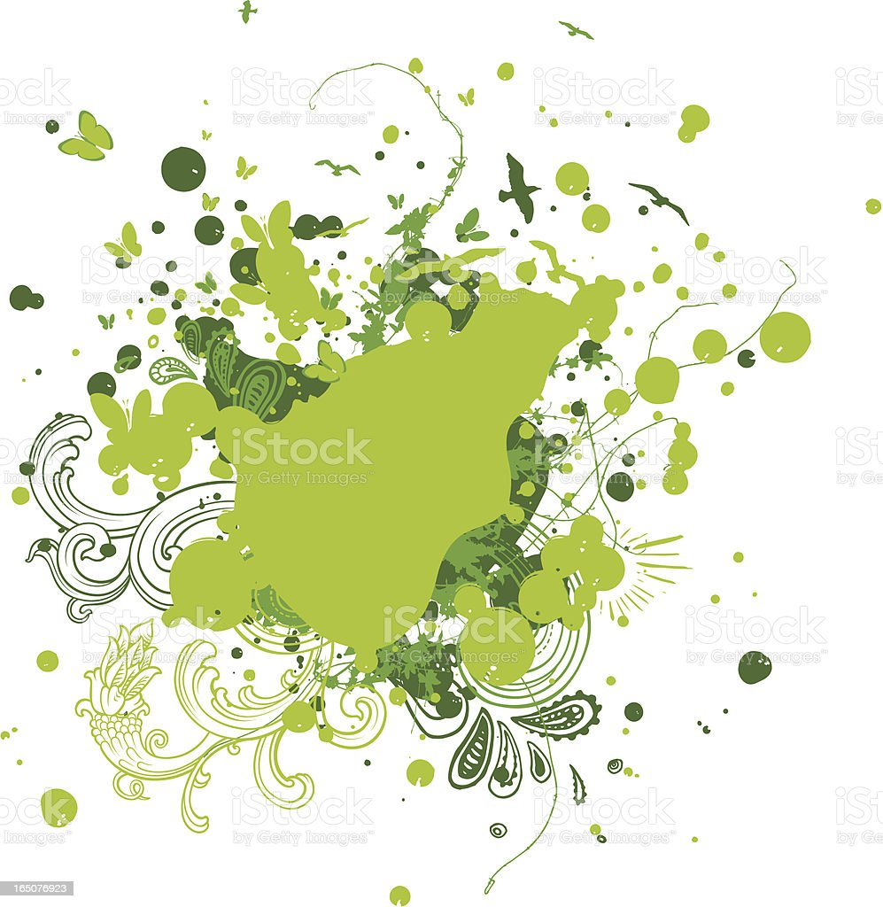 spring splatter royalty-free stock vector art