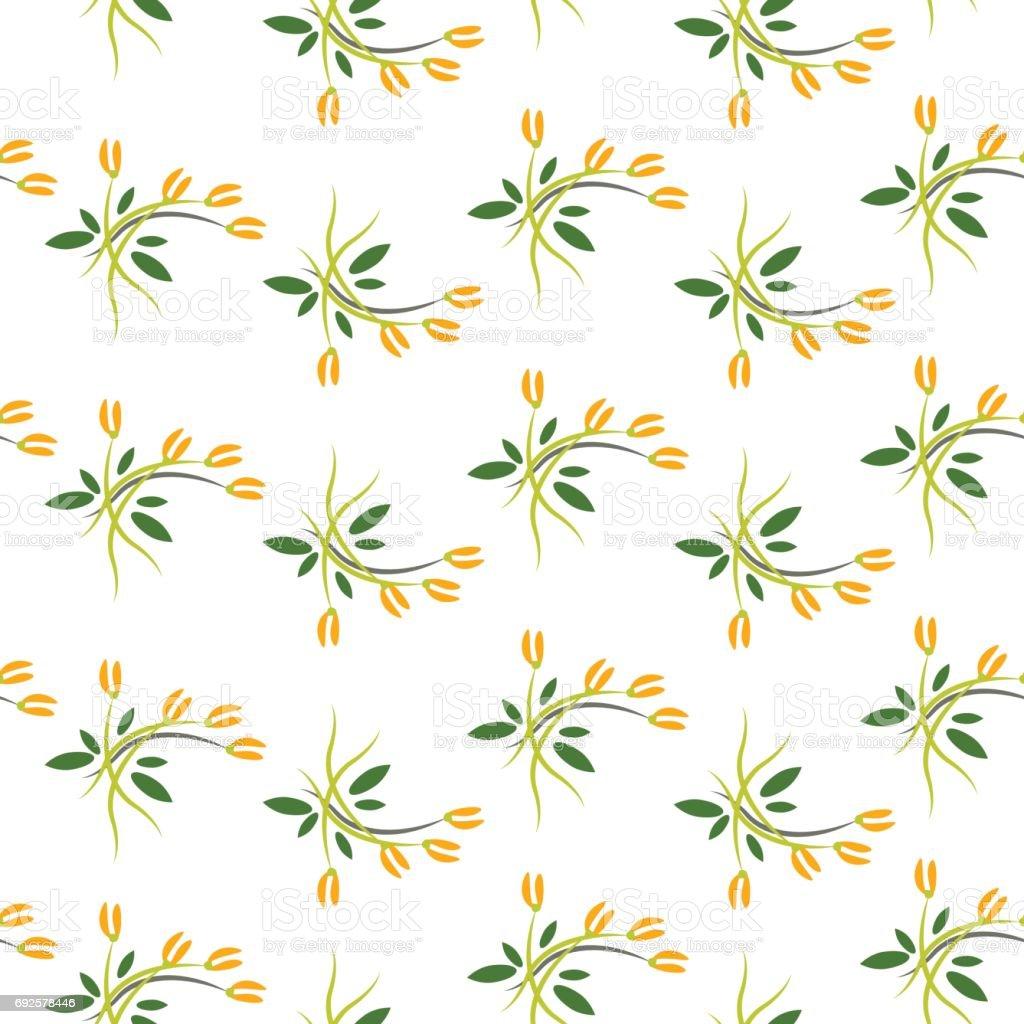 Spring srouts vector art illustration