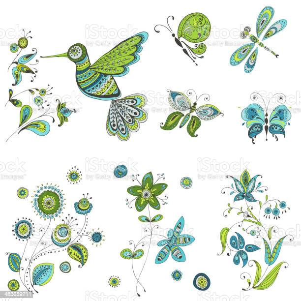 Spring summer doodles bird butterflies flowers vector id483689211?b=1&k=6&m=483689211&s=612x612&h=5mbzqbhddn0qf vjhqmbcbmummylxjhogkjen7ohnic=