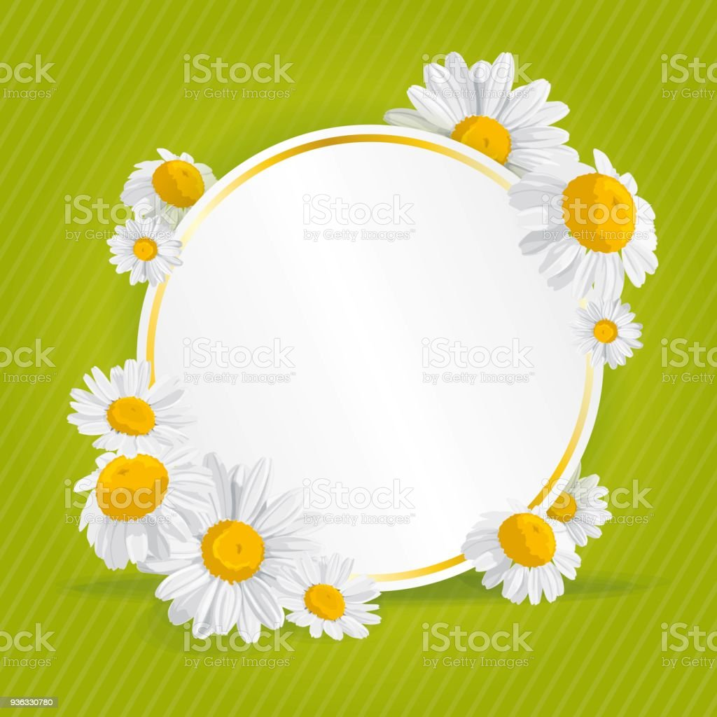 Vetores De Primavera Verao Imprimir Com Margaridas E Mais Imagens