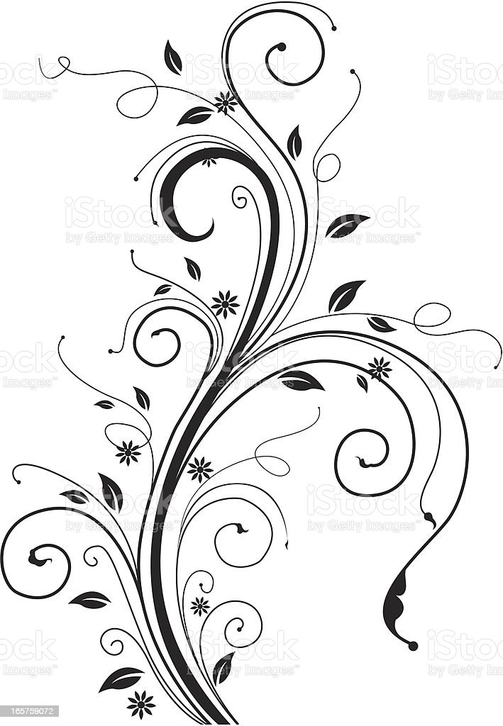 Spring Schnörkel-Silhouette. – Vektorgrafik