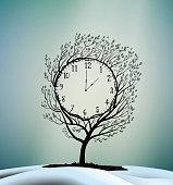 Spring time, spring clock magic clock