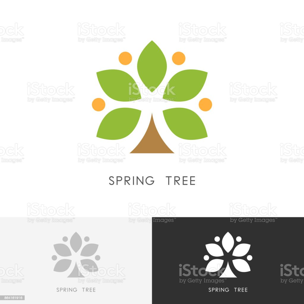 Spring tree symbol royalty-free spring tree symbol stock vector art & more images of agriculture