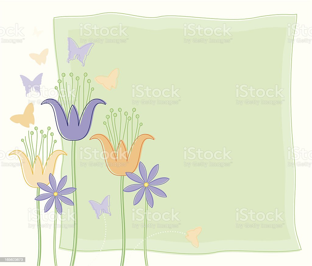 Spring Tulips royalty-free stock vector art