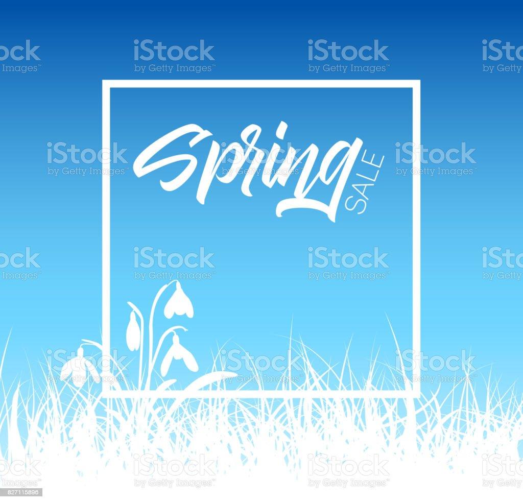 Spring vector grass sale background