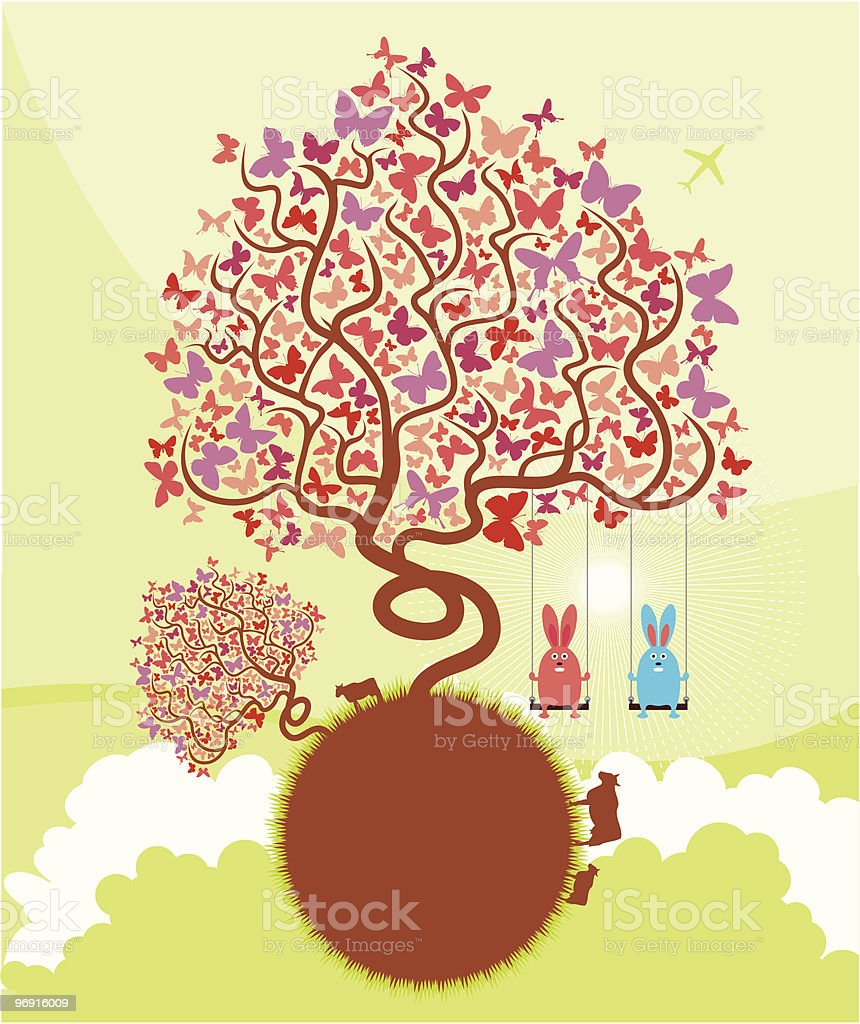 Spring royalty-free spring stock vector art & more images of airplane