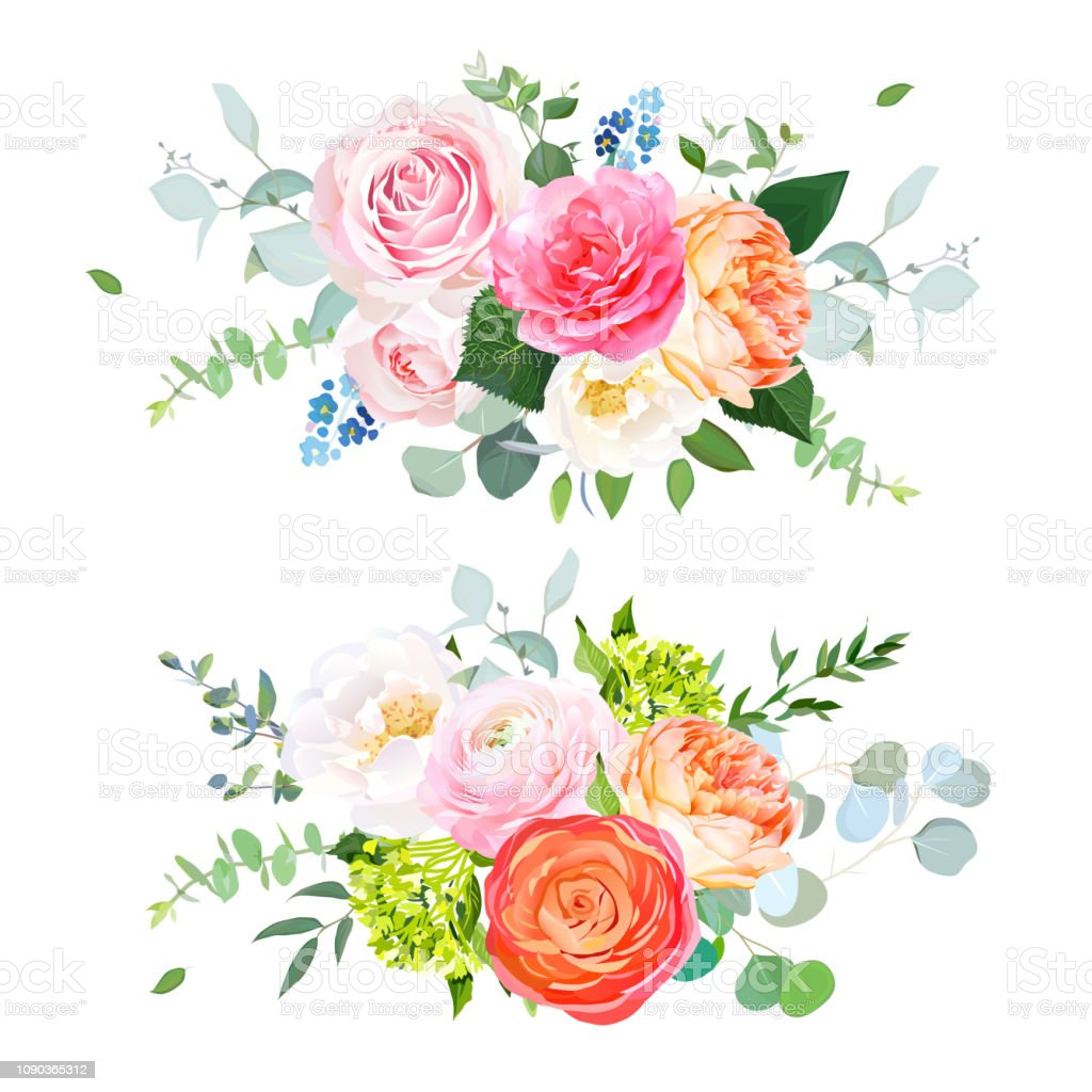 Spring Wedding Flowers Pictures: Spring Wedding Flowers Floral Banner Stock Illustration