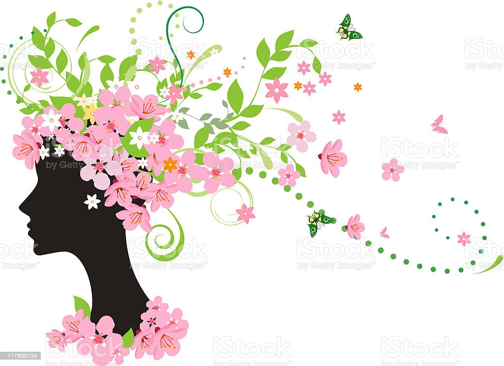 Spring woman royalty-free stock vector art