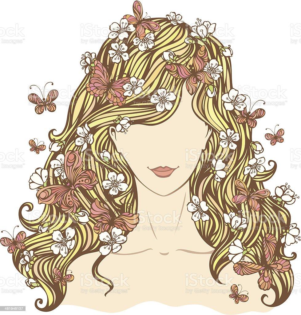Femme de printemps - Illustration vectorielle