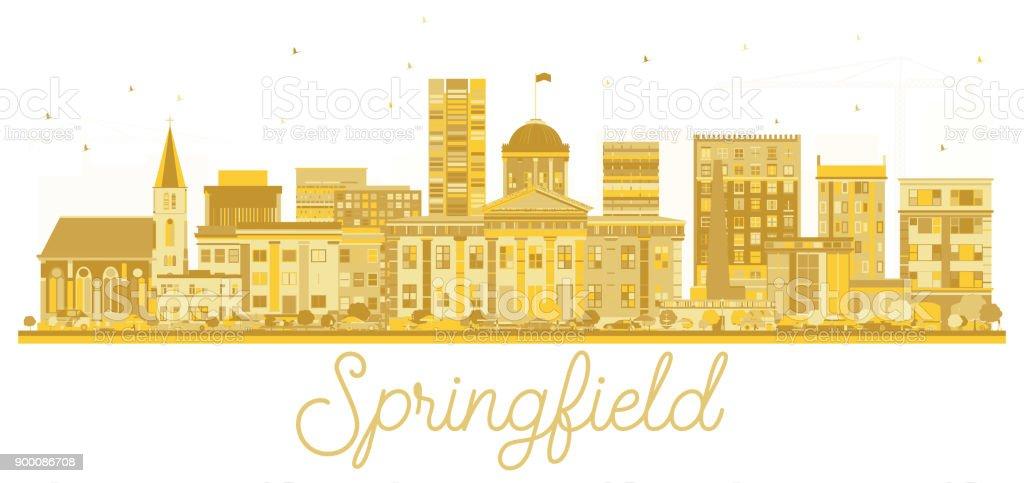 Springfield Illinois USA City skyline golden silhouette. vector art illustration