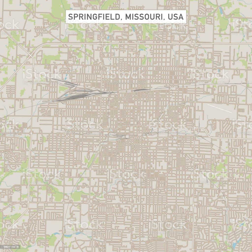 Springfield Missouri Us City Street Map Stock Vector Art More