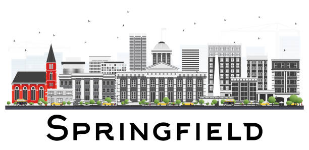Royalty free springfield il clip art vector images illustrations springfield skyline with gray buildings isolated on white background vector art illustration malvernweather Gallery