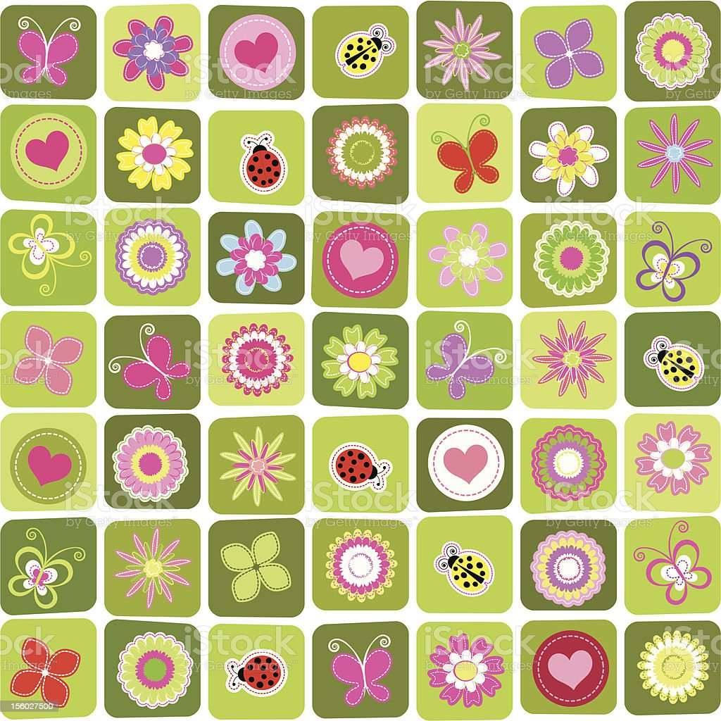 Springtime colorful seamless pattern royalty-free stock vector art