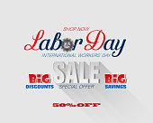Springtime commercial event, International Labor day, sales