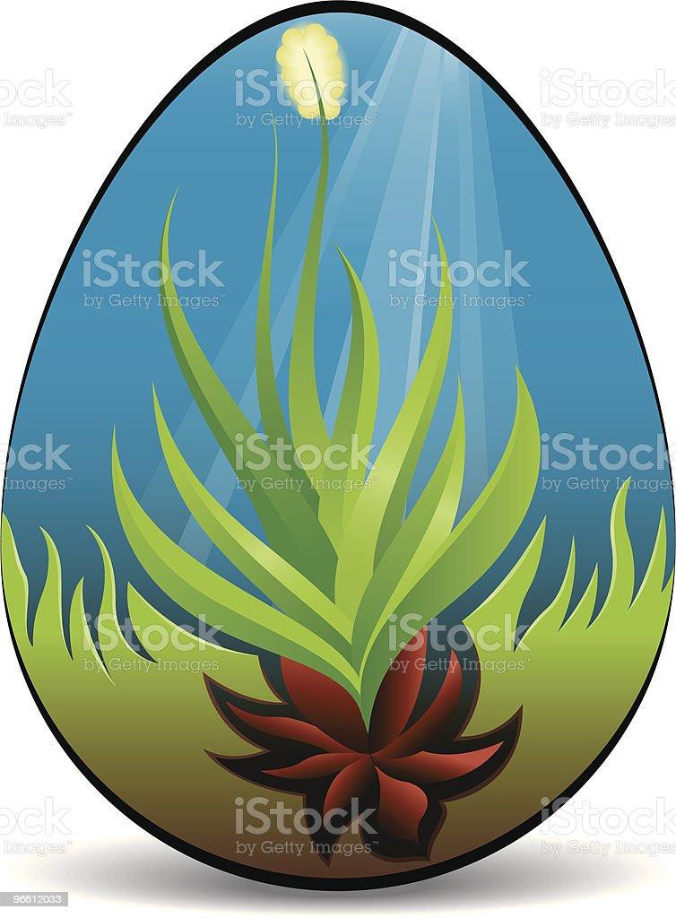 Springtime Easter Egg - Royaltyfri Blå vektorgrafik