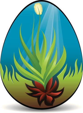 Springtime Easter Egg-vektorgrafik och fler bilder på Blå