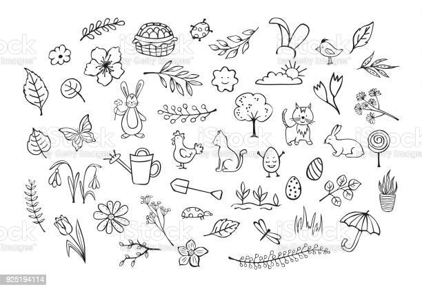 Springtime easter outlined hand drawn simple childlike doodles set vector id925194114?b=1&k=6&m=925194114&s=612x612&h=rkwjfpgm7nd0wpqabdmmxagghehijokfesh02ypxqhu=