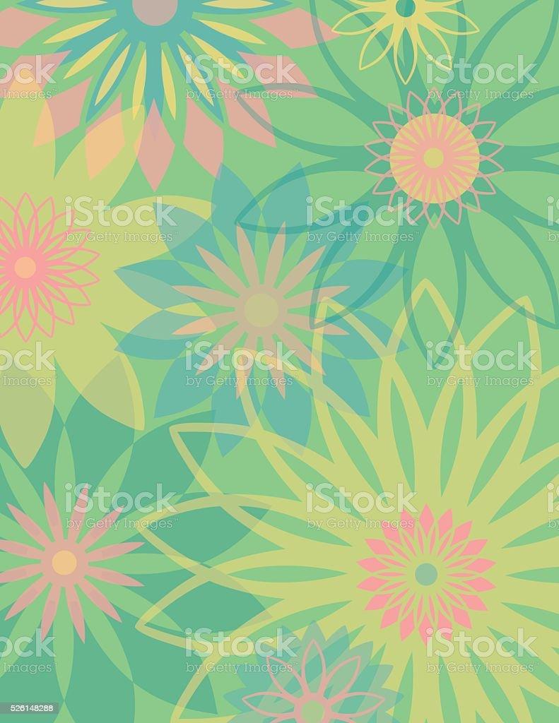 Springtime Flowers vector art illustration