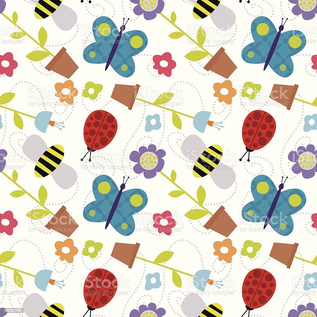 Springtime pattern royalty-free springtime pattern stock vector art & more images of animal markings