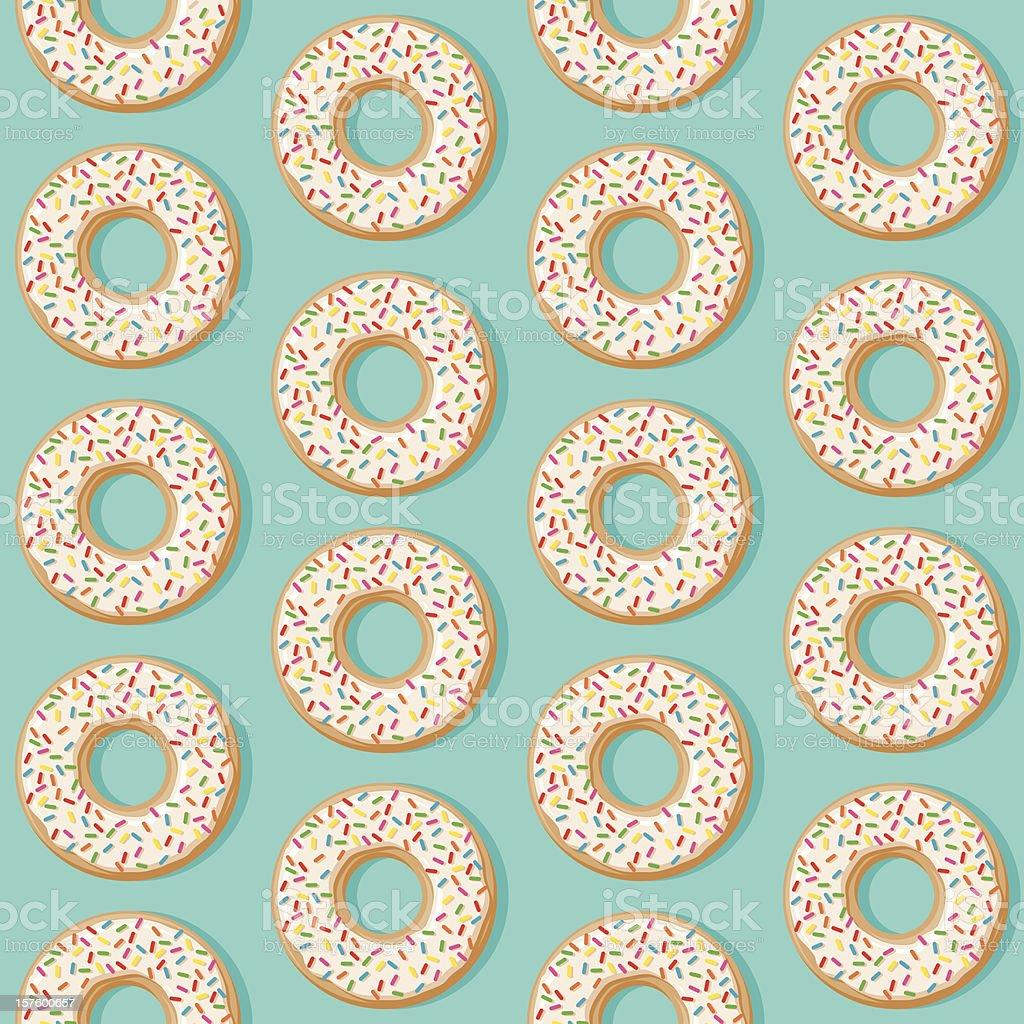 Sprinkle Donut Seamless Pattern vector art illustration