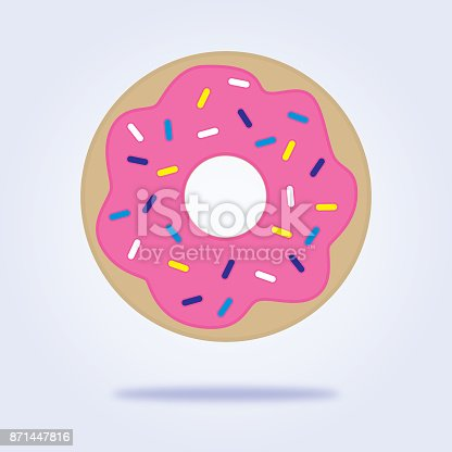 istock Sprinkled Donut Icon 871447816