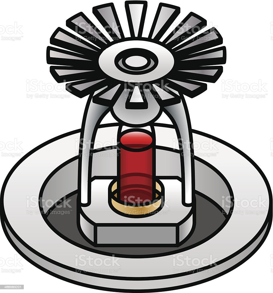 Sprinkler nozzle stock vector art more images of alarm