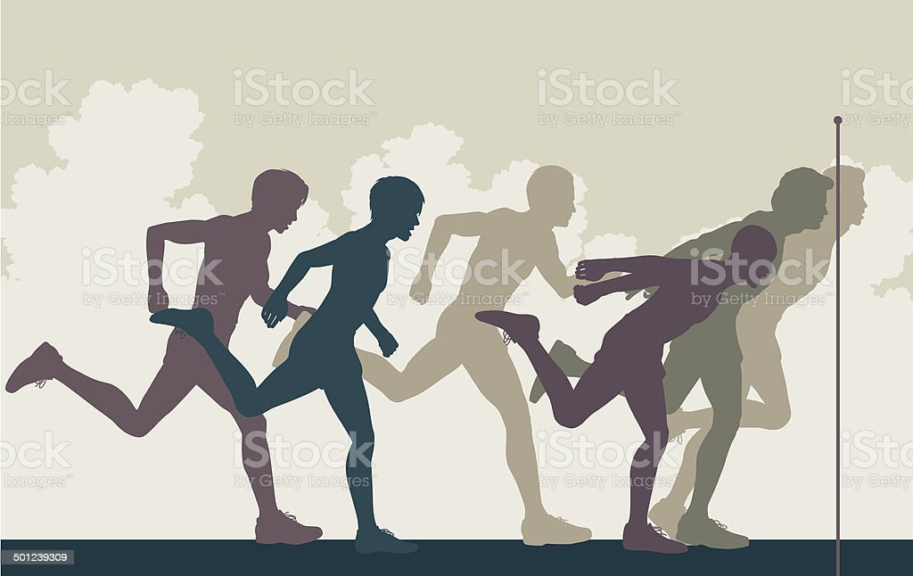 Sprint finish royalty-free stock vector art