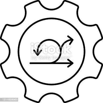 Sprint Process Vector Icon Design, Software and web development symbol on white background, Computer Programming and Coding stock illustration, Agile facilitation Concept,
