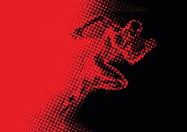 Sprinter vector art illustration