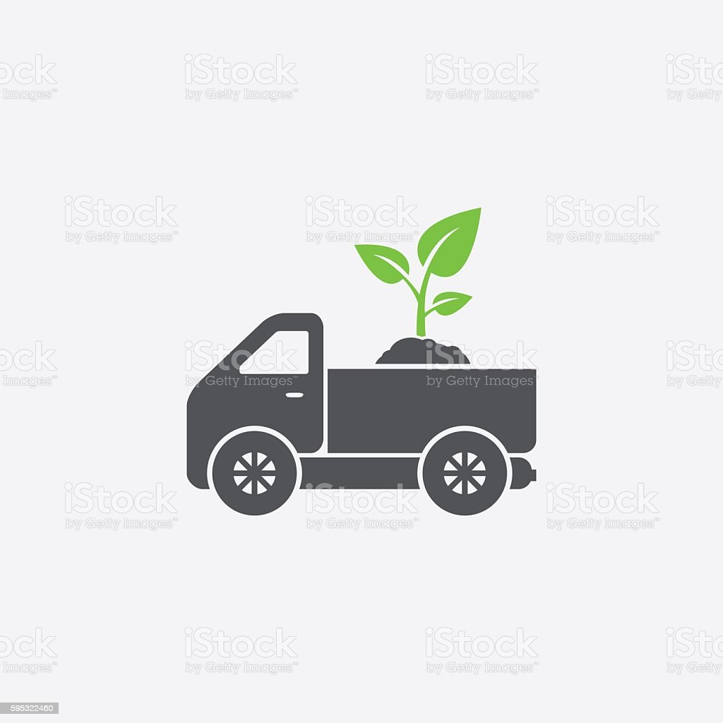 Sprout delivery icon vector art illustration