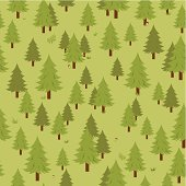 Spruce tree forest seamless pattern