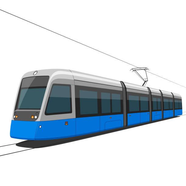 illustrazioni stock, clip art, cartoni animati e icone di tendenza di spårvagn - linea tranviaria