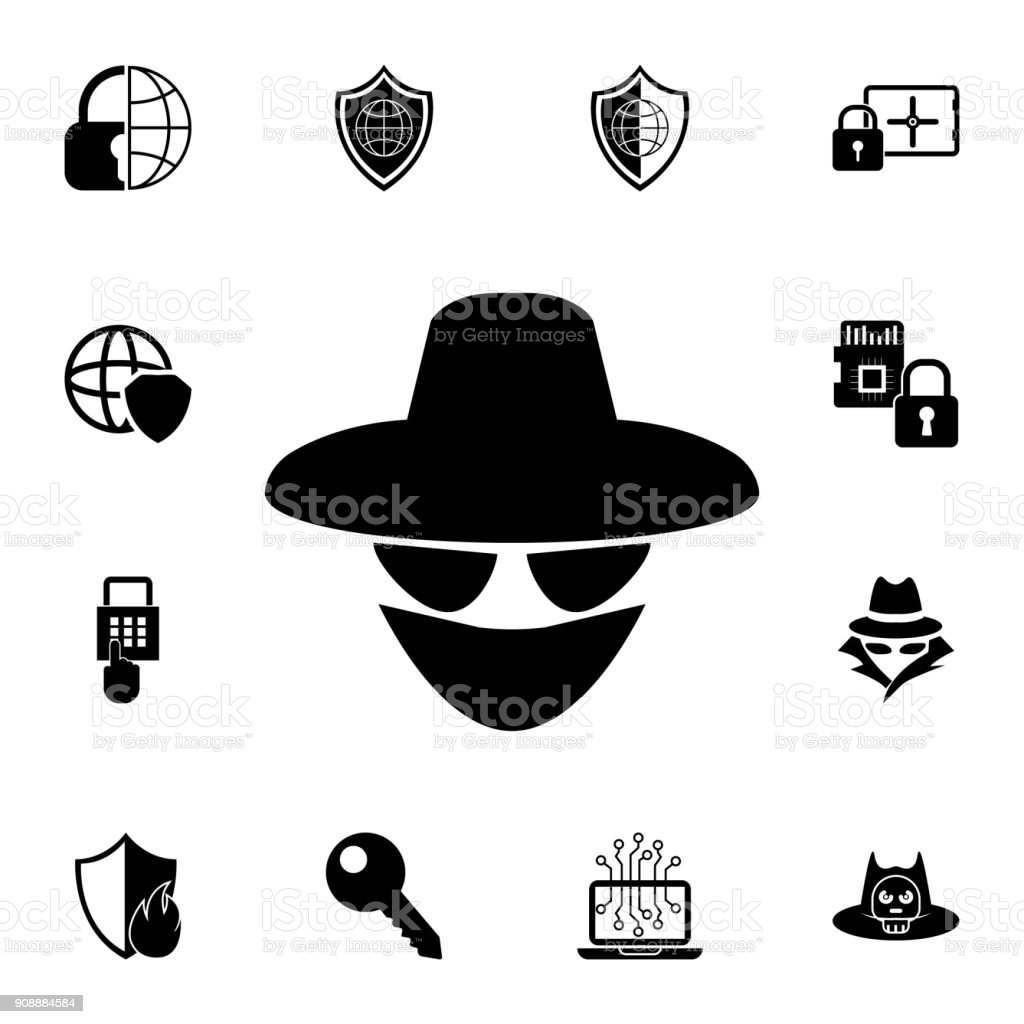Spy agent icon set of cybersecurity icons signs outline symbols set of cybersecurity icons signs outline symbols collection buycottarizona Choice Image