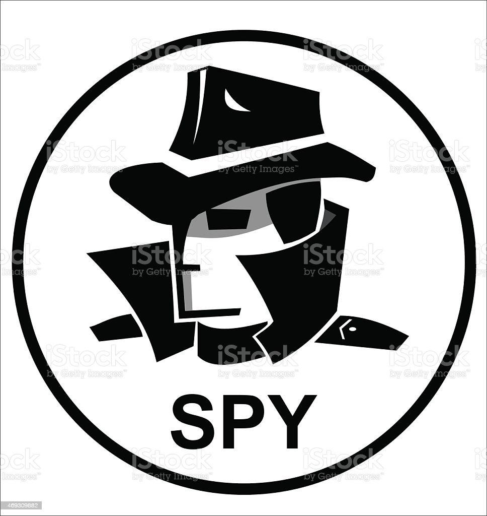 spy agent icon vector art illustration