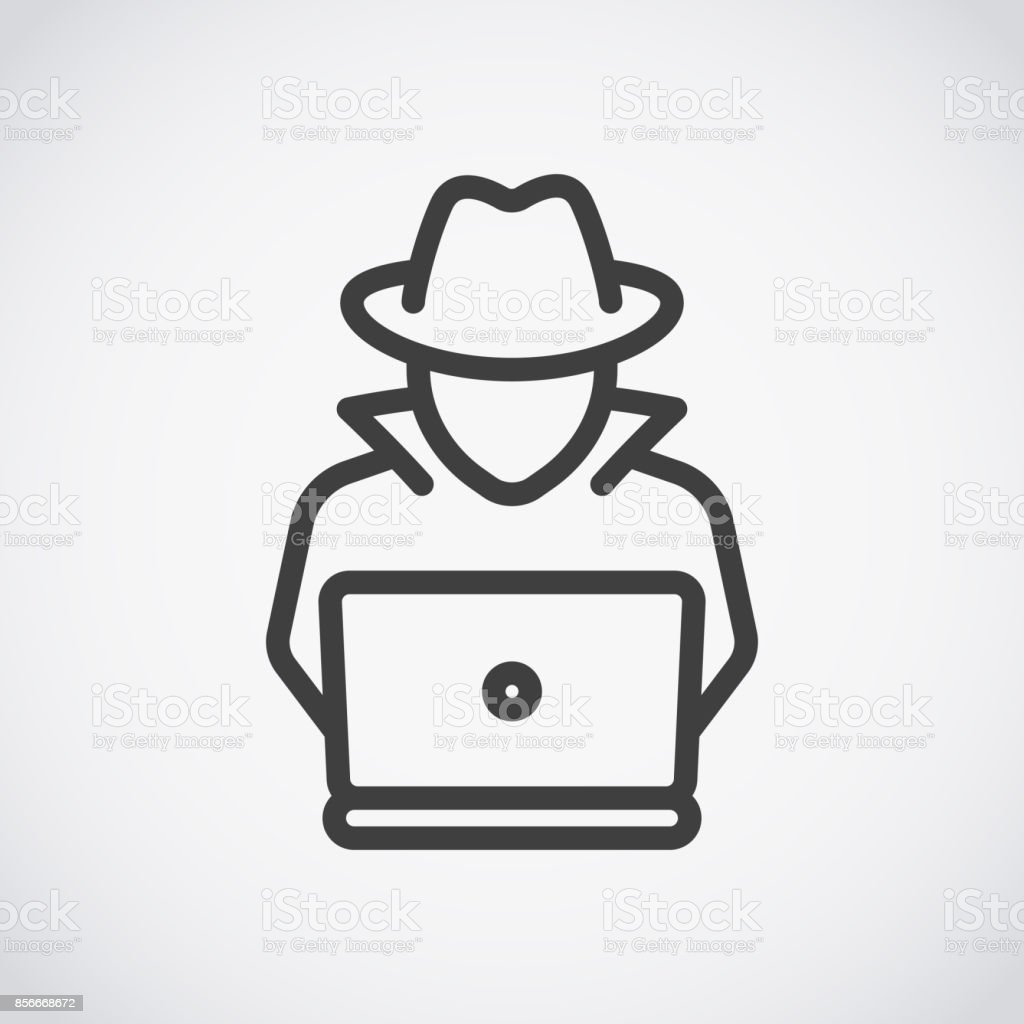 spy agent searching on laptop hacker stock illustration download image now istock spy agent searching on laptop hacker stock illustration download image now istock