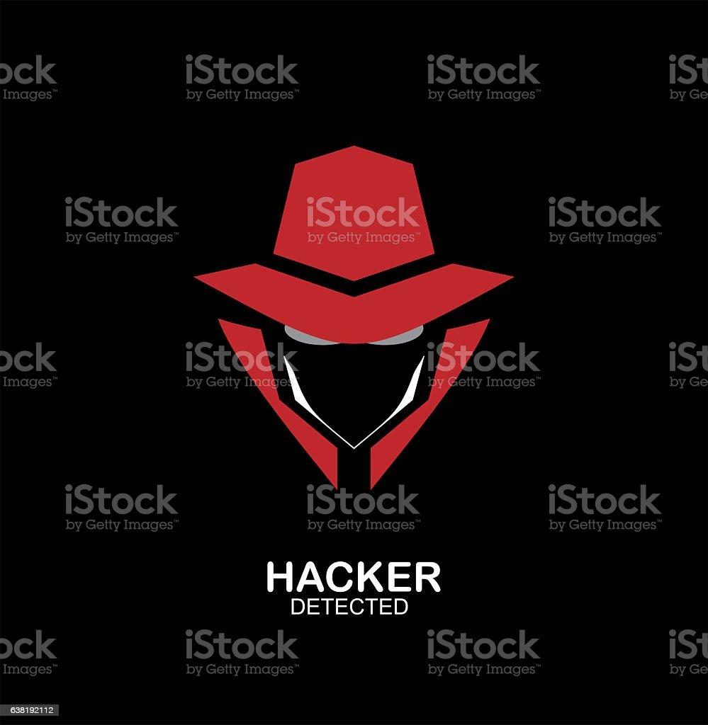 spy agent, secret agent, hacker. Secret service agent icon. Incognito. undercover. vector art illustration