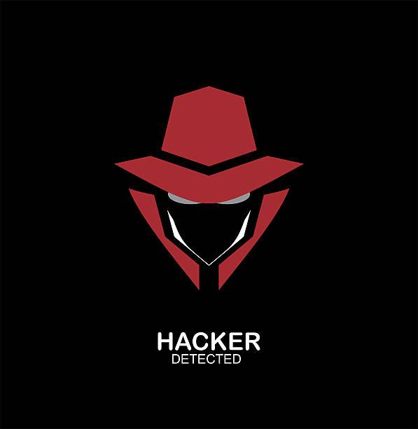 spy agent, secret agent, hacker. Secret service agent icon. Incognito. undercover.  Mysterious man on dark black background.  hacker stock illustrations