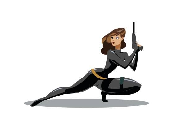 Royalty Free Secret Agent Woman Clip Art, Vector Images ...