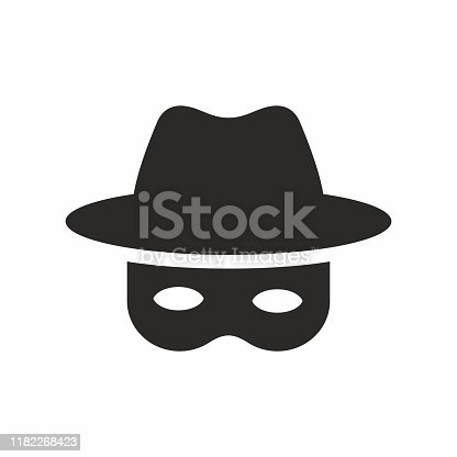 Vector icon isolated on white background.
