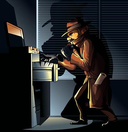 Spy seeking documents