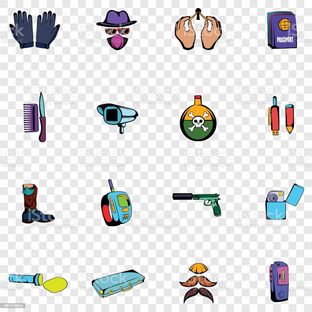 Spy set icons royalty-free spy set icons stock vector art & more images of bodyguard