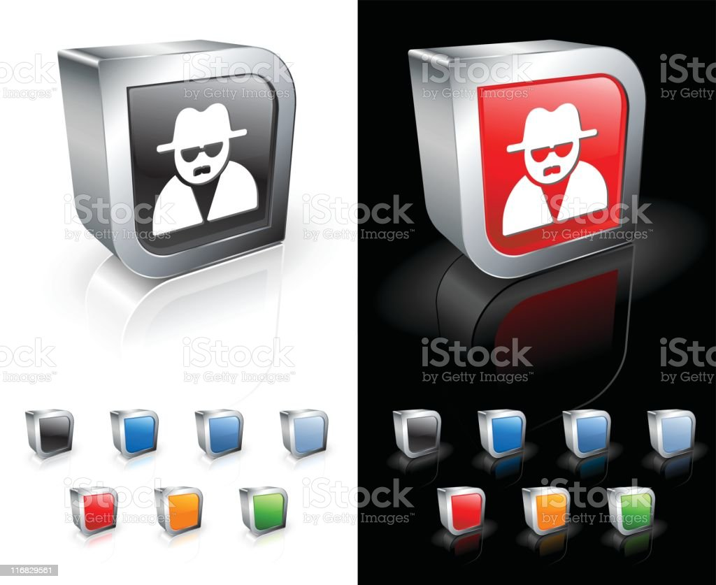 Spy square royalty free vector art royalty-free stock vector art