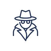 istock Spy thin line icon 1249710833