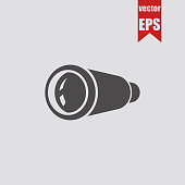 Spyglass icon.Vector illustration.