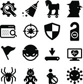 Spyware and Malware Icons - Black Series