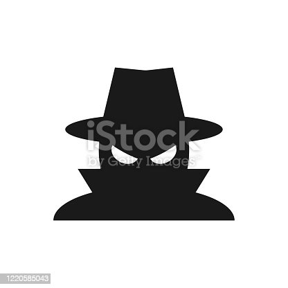 istock Spyware, Internet technology. Stop sign, Web icon. Danger symbol. Concept hacking computer. Vector illustration 1220585043